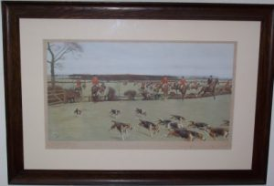 Cecil Aldin The Cheshire Hunt original Hunting print frame