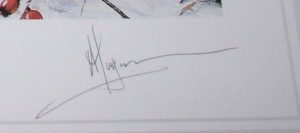 Alan B Hayman Grey Partridge pencil signature