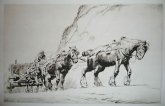 George Soper Etchings Woodcuts Prints Paintings Horses Farm Plough Hunting