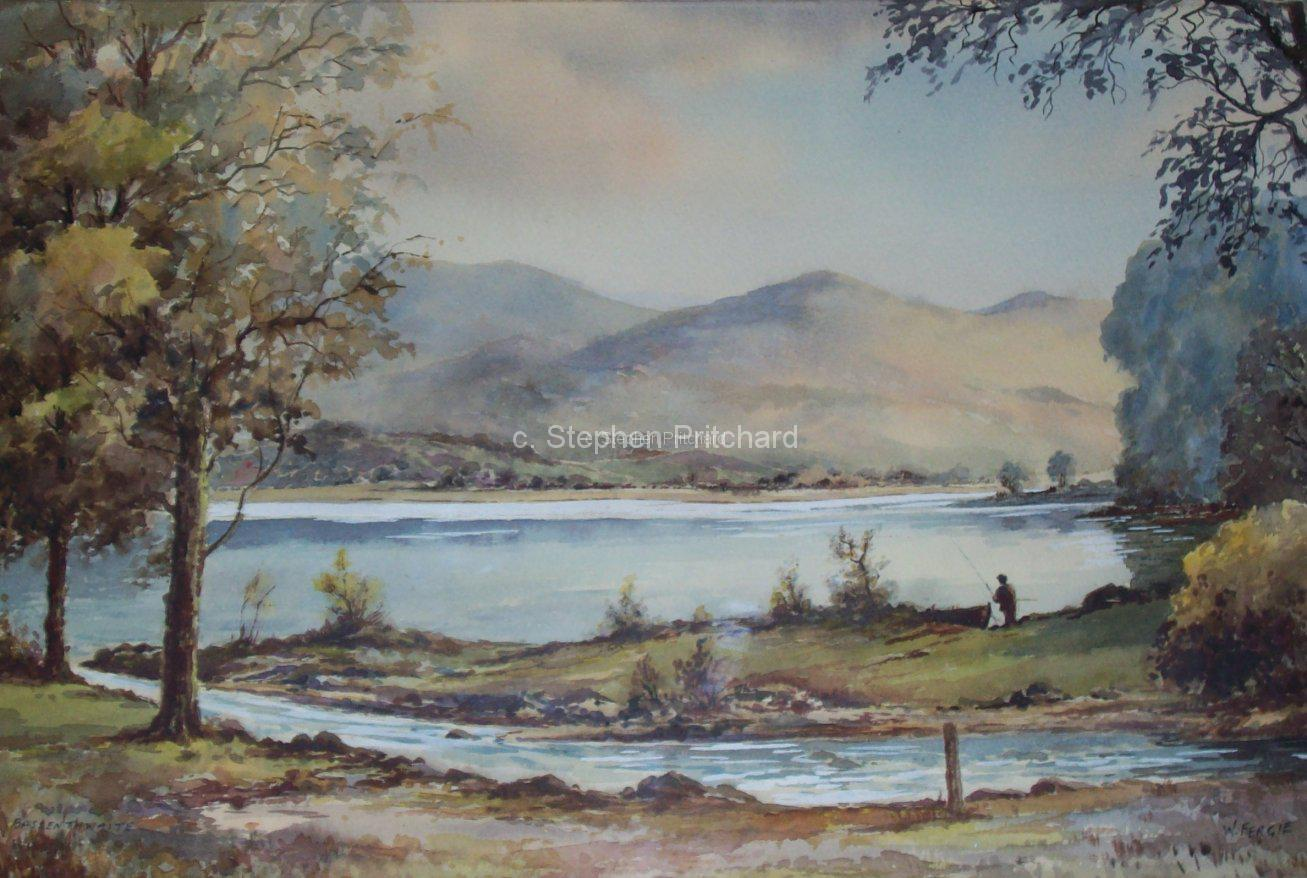 Bassenthwaite by William Fergie original watercolour
