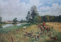 Lionel Edwards Hunting prints The Bicester Hunt