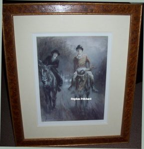 Gilbert Holiday Love in the Mist Original Print frame