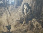The Little Gipsy original etching by Herbert Dicksee