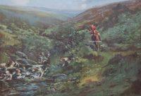 Lionel Edwards Devon and Somerset Staghounds Badgeworth Water