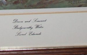 Lionel Edwards Devon and Somerset Staghounds Badgeworth Water frame