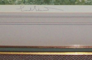 Lionel Edwards Devon and Somerset Staghounds signed print frame