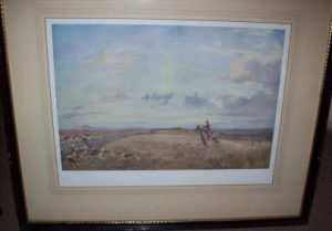 Lionel Edwards The Buccleuch Hunt original pencil signed print picture frame