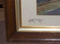 Robin Furness The Bedale Hunt original painting vignette