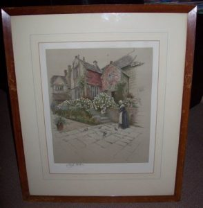 Cecil Aldin Print Binghams Melcombe Dorset frame