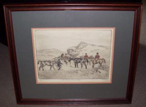 Tom Carr Signed Etching To Ground in the Rocks Frame