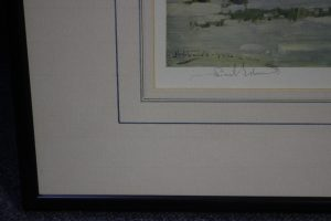 Lionel Edwards The Blankney Hunt signature detail