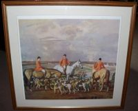 Sir Alfred Munnings Eleven o Clock Hunting Print frame