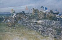 Gilbert Holiday Punchestown original artist Racing print
