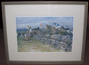 Gilbert Holiday Punchestown original artist Racing print Frameartist Racing print