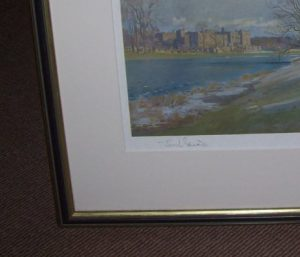 Lionel Edwards The Zetland Hunt Print frame detail