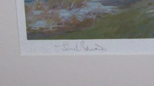 Lionel Edwards The Zetland Hunt Print signature detail