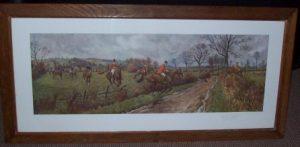 FA Stewart Print The Blackmore Vale Hunt signature Frame