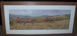 F.A. Stewart Print The Cattistock Hunt signature Frame