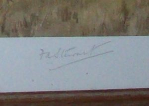 FA Stewart Print The Cattistock Hunt signature