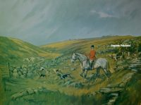 John King Print The Spooners and West Dartmoor Hunt