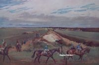 Lionel Edwards Racing Print The Ditch Newmarket