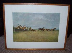 Lionel Edwards Racing Print Larkhill Frame