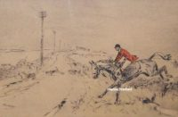 Tom Carr Across The Road Etching
