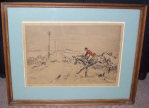 Tom Carr Across The Road Etching Signature Frame