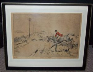 Tom Carr Etching Across the Road Frame