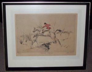 Tom Carr Etching February Full Dyke frame