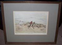 Tom Carr Etching On The Hills Frame