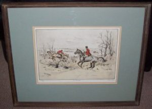 Tom Carr Etching In The Vale Frame