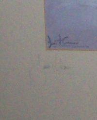 Daniel Crane December original pencil signed Hunting Print Signature