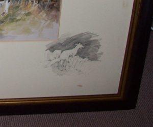 Daniel Crane Hunting Print Leu In pencil vignette