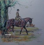 Daniel Crane September original pencil signed Hunting Print
