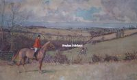 Lionel Edwards The Essex Farmers Hunt original pencil signed Hunting Print