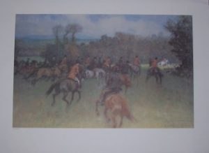 Gilbert Holiday Gone Away Hunting Print