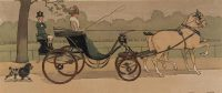 Cecil Aldin Print Hyde Park