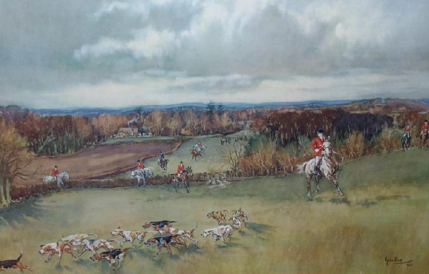 John King's Picture of  The Chiddingfold, Leconfield and Cowdray Hunt at Alder  Bed Copse