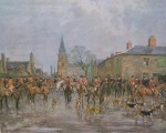 Lionel Edwards Hunting Prints The Pytchley Hunt Crick Meet