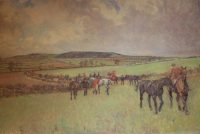 Lionel Edwards Hunting prints The Quorn Hunt Changing Horses