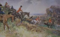 Gilbert Holiday Hunting prints The Warwickshire Hunt at Edgehill