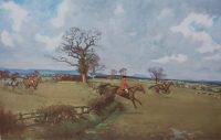 Lionel Edwards Hunting Prints The Cheshire Hunt Tattenhall print