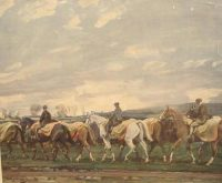 Alfred Munnings Hunting prints The Belvoir Hunt Horses