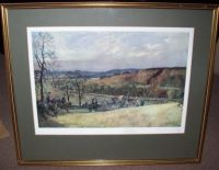Lionel Edwards North Warwickshire Hunt frame detail