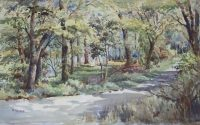 William Fergie Watercolour a Woodland Glade