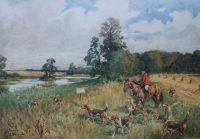 Lionel Edwards Hunting prints The Bicester Hunt