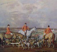 Sir Alfred Munnings Eleven o Clock Hunting Print