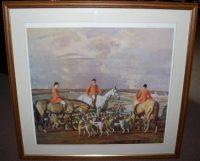 Sir Alfred Munnings Eleven o Clock Hunting Print frame