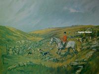 John King Print The Spooners and West Dartmoor Hunt